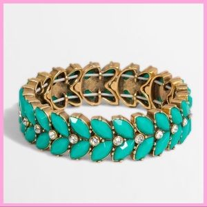 J. CREW | Aqua Stone Statement Bracelet